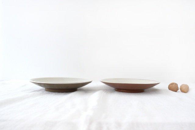 7寸皿 トビカンナ 陶器 小石原焼 画像2