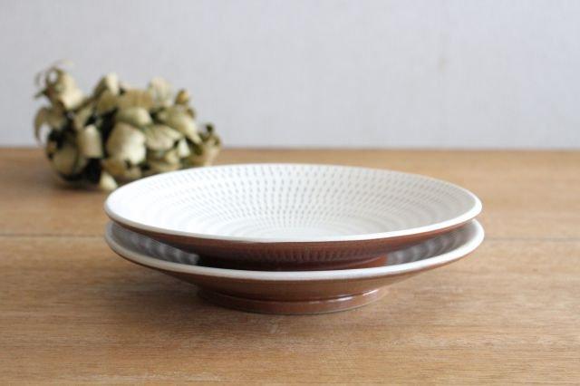 7寸皿 トビカンナ 陶器 小石原焼 画像5