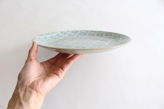 RUG/8.5プレート shippou pattern グリーン 陶器 波佐見焼 sen 画像2