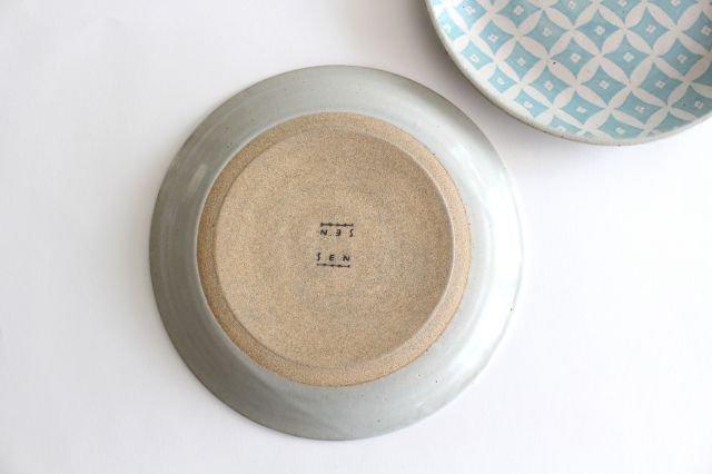 RUG/8.5プレート shippou pattern グリーン 陶器 波佐見焼 sen 画像3