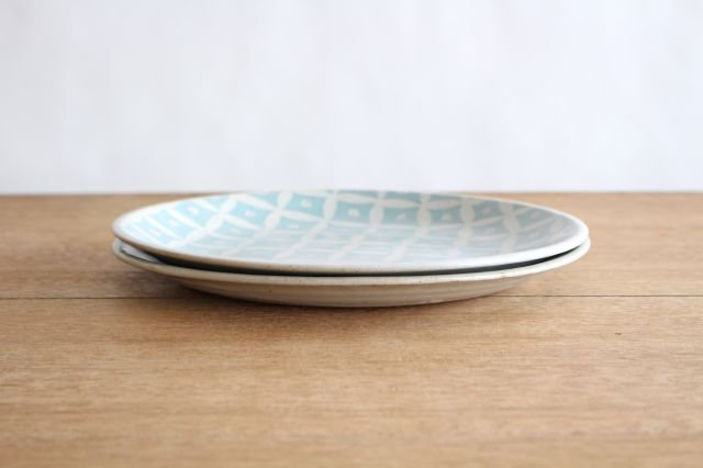 RUG/8.5プレート shippou pattern グリーン 陶器 波佐見焼 sen 画像4