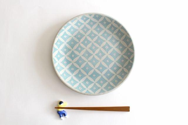 RUG/8.5プレート shippou pattern グリーン 陶器 波佐見焼 sen 画像6