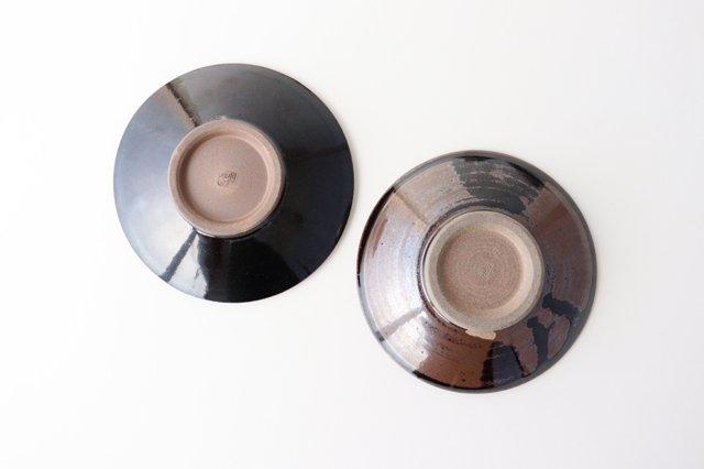 4寸皿 トビカンナ 飴縁内掛 陶器 小石原焼 画像4