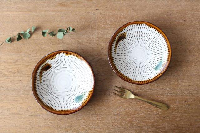 4寸皿 トビカンナ 飴縁内掛 陶器 小石原焼 画像5