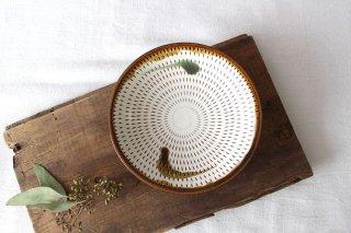 5寸皿 トビカンナ 飴縁内掛 陶器 小石原焼商品画像