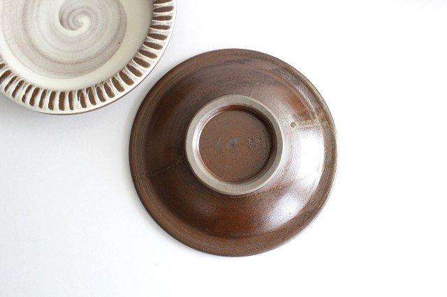 リム付ミニパン皿 ハケメ 陶器 小石原焼 画像3