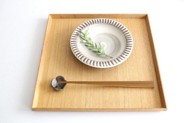 リム付ミニパン皿 ハケメ 陶器 小石原焼 画像4