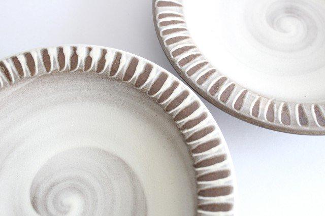 リム付ミニパン皿 ハケメ 陶器 小石原焼 画像5