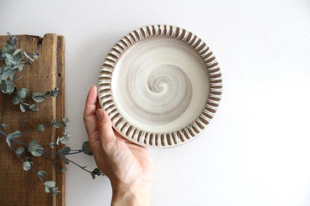 リム付ミニパン皿 ハケメ 陶器 小石原焼 画像6