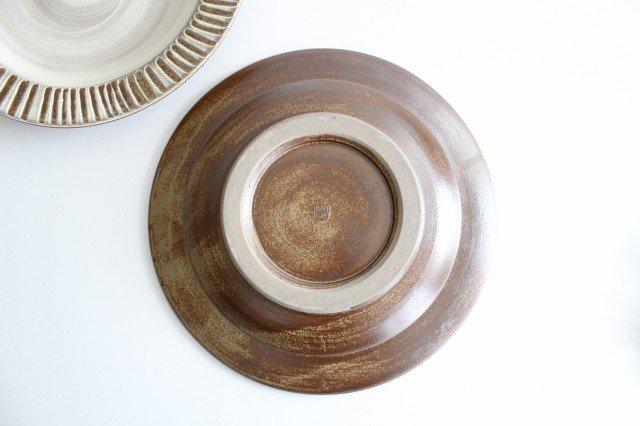 リム付平皿 ハケメ 陶器 小石原焼 画像3