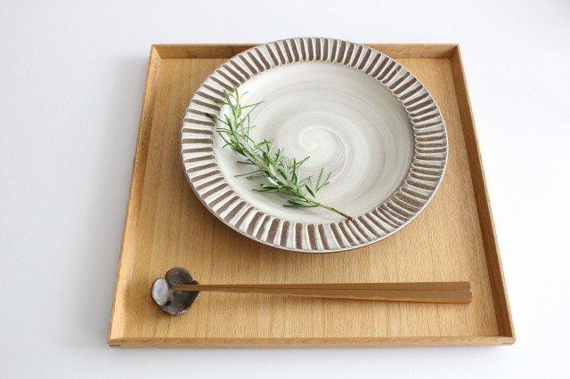 リム付平皿 ハケメ 陶器 小石原焼 画像4