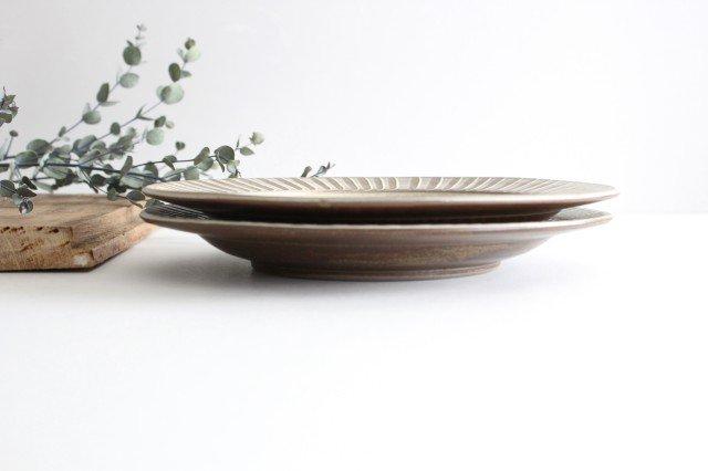 リム付平皿 ハケメ 陶器 小石原焼 画像5