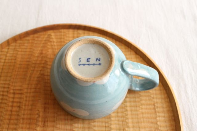 RUG/マグカップ unit グリーン 陶器 波佐見焼 sen  画像3