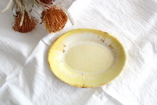 オーバルプレート 黄 陶器 TULUSIWORKS商品画像