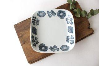 波佐見焼 Wreath On The Table スクエアプレート グレー 磁器商品画像