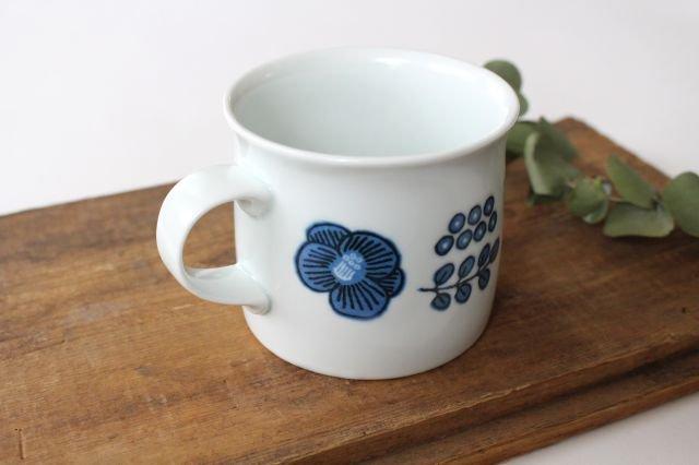 波佐見焼 Wreath On The Table マグカップ ブルー 磁器 画像4