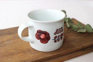 波佐見焼 Wreath On The Table マグカップ レッド 磁器商品画像