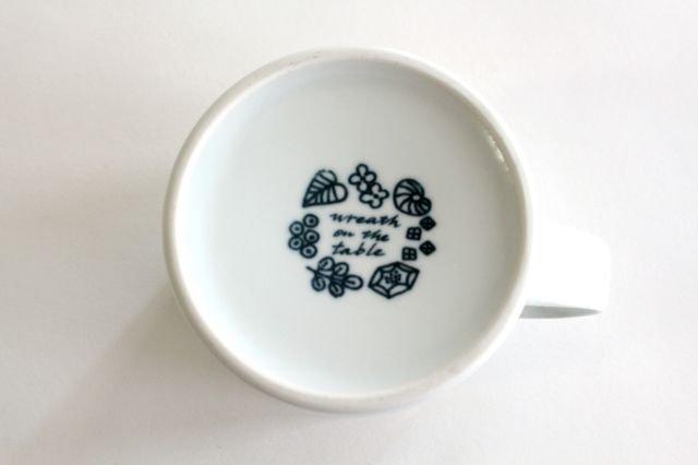 波佐見焼 Wreath On The Table マグカップ グレー 磁器 画像5