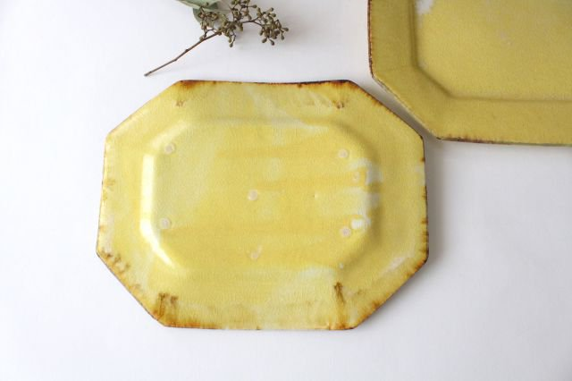 8角プレート 黄 TULUSIWORKS 陶器 画像3