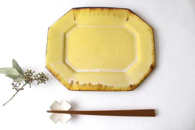 8角プレート 黄 TULUSIWORKS 陶器 画像4