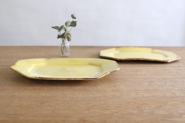 8角プレート 黄 TULUSIWORKS 陶器 画像5
