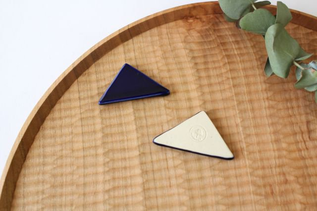 三角はしおき 瑠璃 陶器 momone 画像4