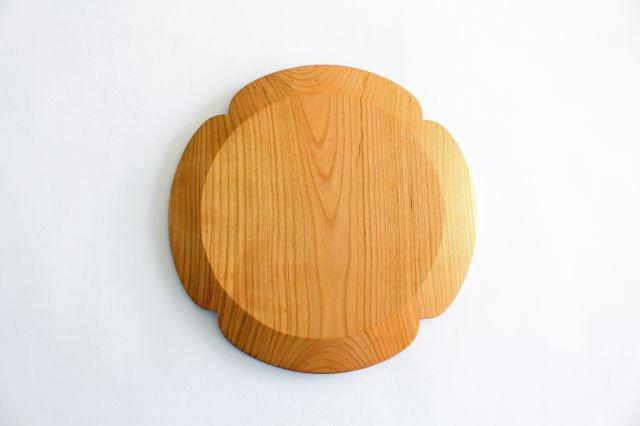 花形パン皿 大 さくら 木工房玄 高塚和則 画像4