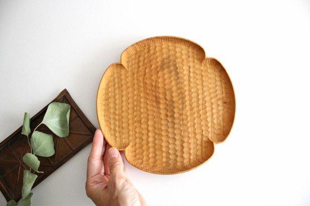 花形パン皿 中 さくら 木工房玄 高塚和則 画像3