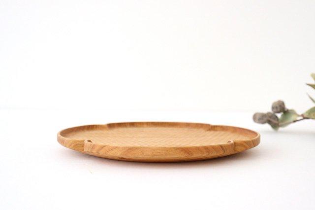 花形パン皿 中 さくら 木工房玄 高塚和則 画像4