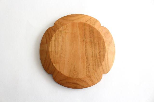 花形パン皿 中 さくら 木工房玄 高塚和則 画像5