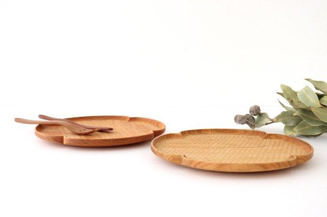 花形パン皿 中 さくら 木工房玄 高塚和則 画像6