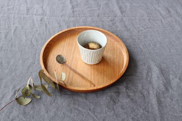 しのぎカップ 粉引 陶器 伊藤豊
