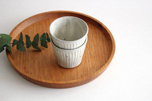 しのぎカップ 粉引 陶器 伊藤豊 画像3
