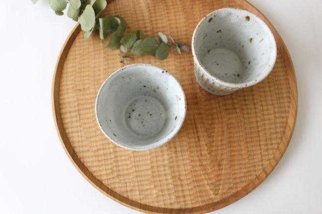 しのぎカップ 粉引 陶器 伊藤豊 画像5