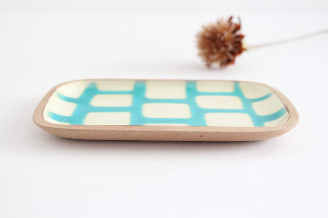 角皿 小 トルコブロック 陶器 一翠窯 画像2