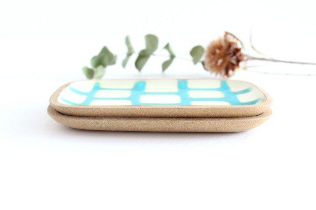 角皿 小 トルコブロック 陶器 一翠窯 画像4