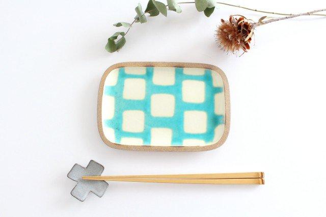 角皿 小 トルコブロック 陶器 一翠窯 画像6