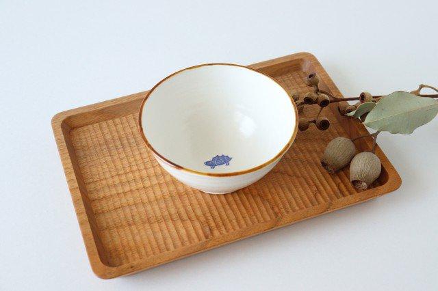 ハリネズミのご飯茶碗 磁器 原村俊之