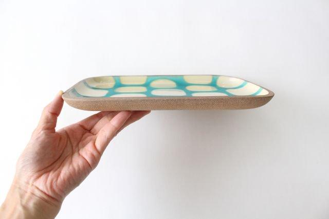 角皿 大 トルコブロック 陶器 一翠窯 やちむん 画像2