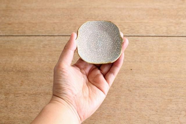 豆皿 墨入貫入 陶器 はなクラフト 画像2