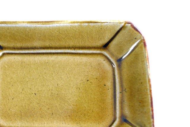 長角皿 飴釉 小 陶器 はなクラフト 画像2