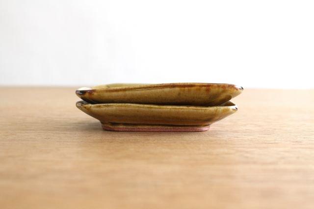 長角皿 飴釉 小 陶器 はなクラフト 画像3