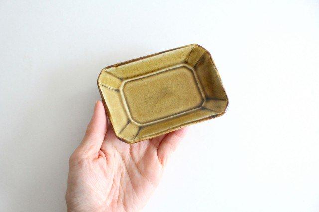 長角皿 飴釉 小 陶器 はなクラフト 画像4