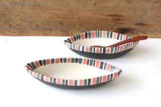 葉っぱ型小鉢 ライン 陶器 樋口早苗商品画像