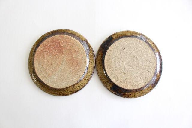 リム丸皿 中 フェザーコーム クリーム 陶器 紀窯 画像3