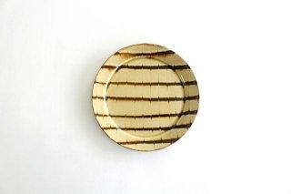 リム丸皿 中 フェザーコーム クリーム 陶器 紀窯商品画像
