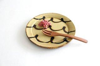 リム丸皿 中 波波 クリーム 陶器 紀窯商品画像