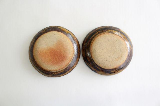 丸皿 中 フェザーコーム クリーム 【B】 陶器 紀窯 画像5