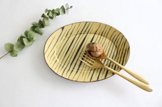 楕円リム皿 中 ボアーズヘッド クリーム 陶器 紀窯商品画像