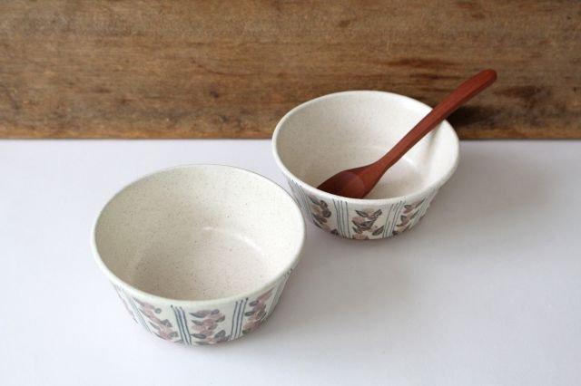 フラワー&ライン小鉢 陶器 樋口早苗 画像6
